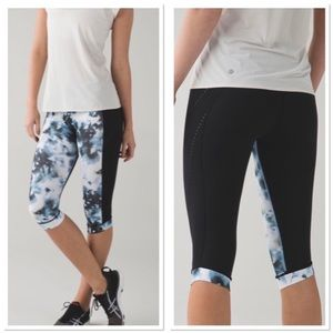 Lululemon Stop At Nothing Multi Color Crops
